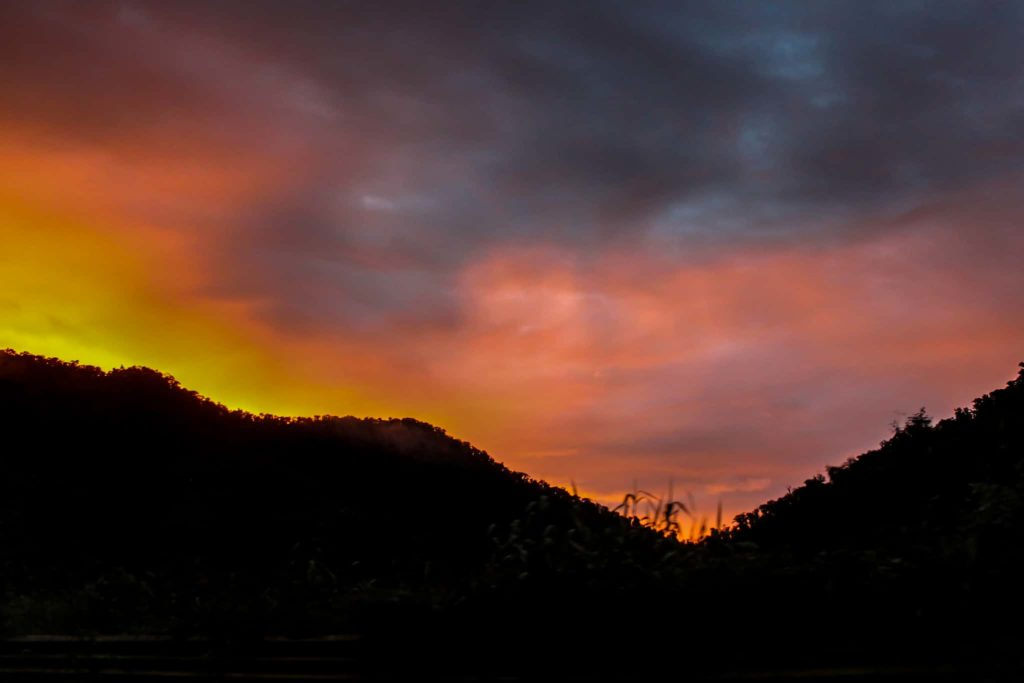 mindo sunset